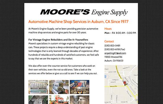 пример за базов уебсайт на търговец на автомотори